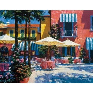 Howard Behrens 'Inn at Lake Garda' Canvas Art
