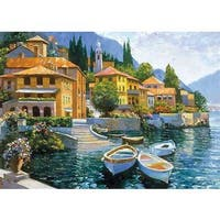 Howard Behrens 'Lake Como Landing' Canvas Art