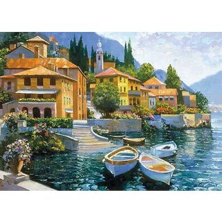 Howard Behrens 'Lake Como Landing' Canvas Art