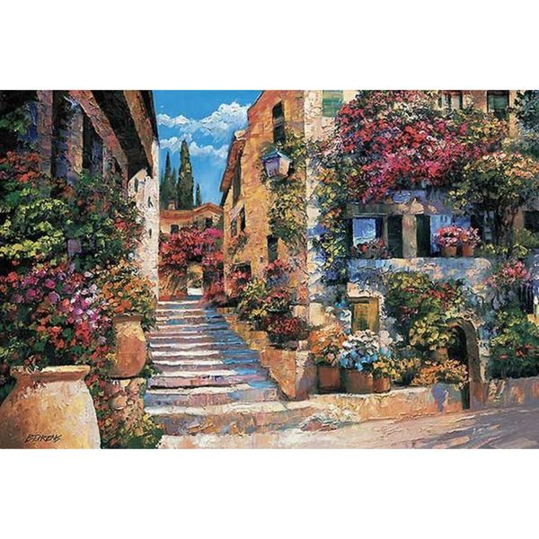 Howard Behrens 'Riviera Stairs' Canvas Art
