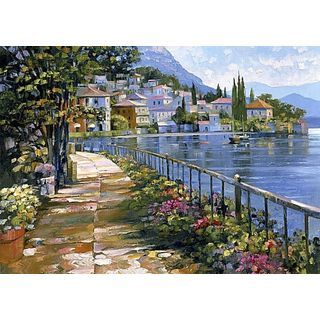Howard Behrens 'Sunlit Stroll' Canvas Art