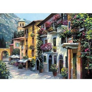 Howard Behrens 'Village Hideaway' Canvas Art