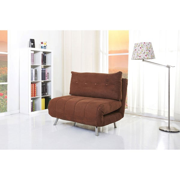 Gold Sparrow Tampa Brown Convertible Big Chair Bed