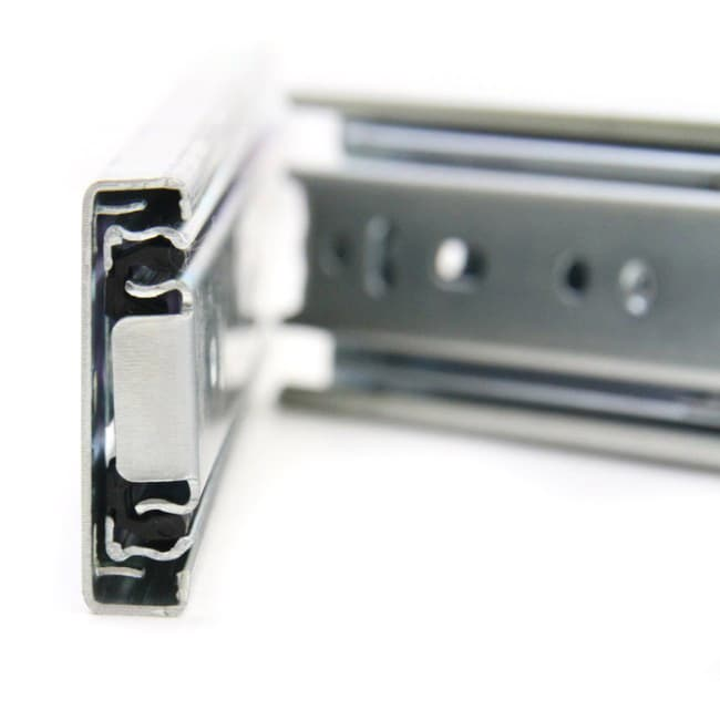 GlideRite Hardware 2075-ZC-10 20 inch 100 lb 10 Pack 20 Side Mount Soft Close Full Extension Drawer Slides Silver