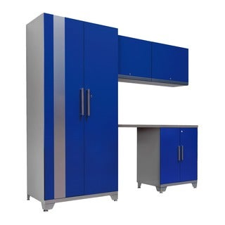 NewAge Products Performance Plus Blue 5-piece Metal Cabinet Set