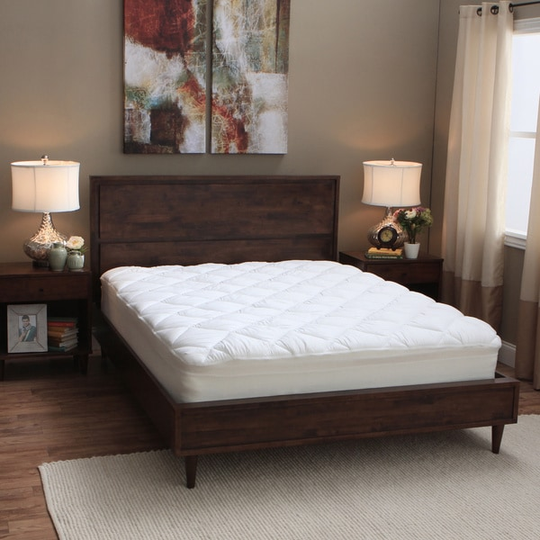 Spring Air 300 Thread Count Overfilled Lunalux Mattress Pad
