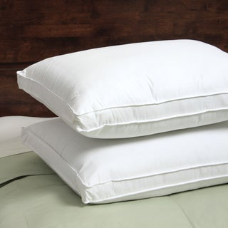 Hotel Madison 300 Thread Count Won't Go Flat Density Pillow (Set of 2) - White