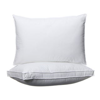 Hotel Madison 300 Thread Count Won't Go Flat Density Pillow (Set of 2) - White