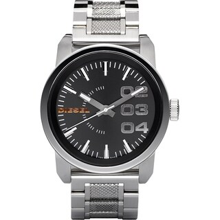 Diesel Men's Analog DZ1370 Black Dial Stainless Steel Watch