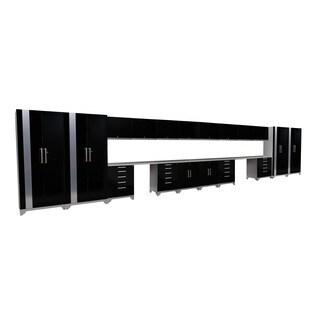 NewAge Products Performance Plus Black 21-piece Metal Cabinet Set