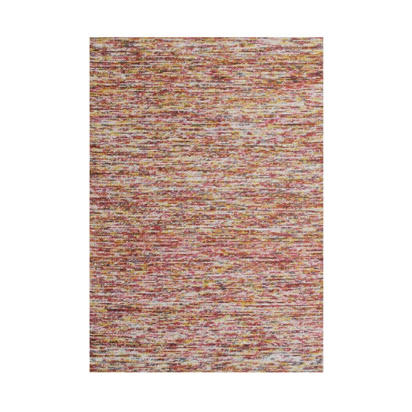 Alliyah Hand Made Braided Ash Rose New Zeeland Blend Wool Rug - 5' x 8'