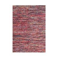Alliyah Handmade Braided Ash Rose New Zealand Wool Rug - 5' x 8'