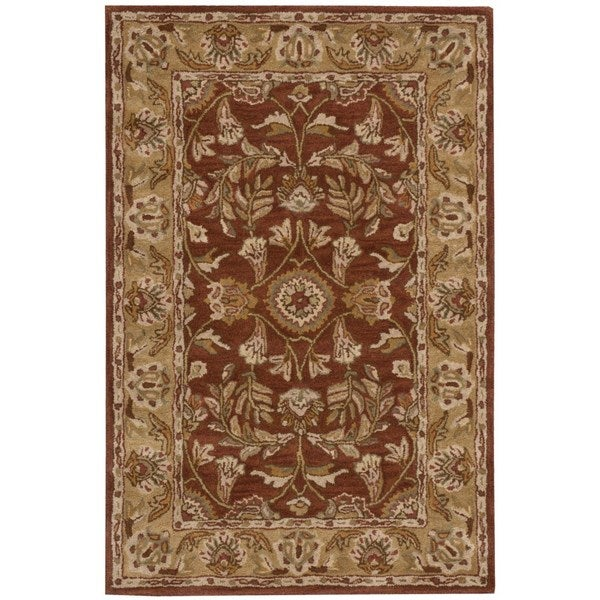 Nourison Hand-tufted India House Rust Wool Rug (2'6 x 4')