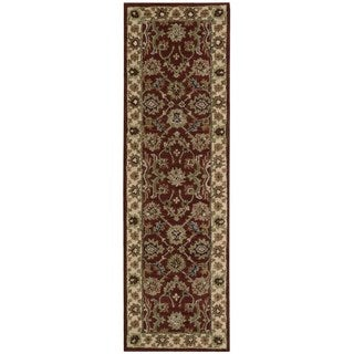 Nourison Hand-tufted India House Brick Red Wool Rug (2'3 x 7'6)