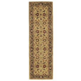 Nourison Hand-tufted India House Gold Wool Rug (2'3 x 7'6)