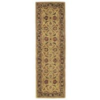 Nourison Hand-tufted India House Gold Wool Rug - 2'3 x 7'6