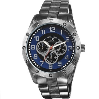Joshua & Sons Men's Multifunction Sunray Dial Blue Bracelet Watch