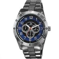 Joshua & Sons Men's Multifunction Sunray Dial Blue Bracelet Watch