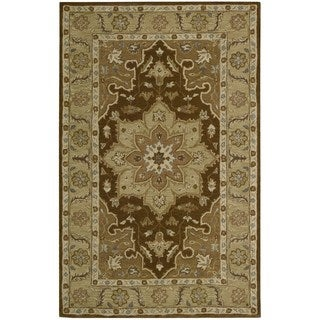 Nourison Hand-tufted India House Chocolate Wool Rug (3'6 x 5'6)