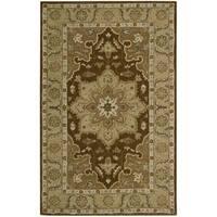 Nourison Hand-tufted India House Chocolate Wool Rug - 3'6 x 5'6