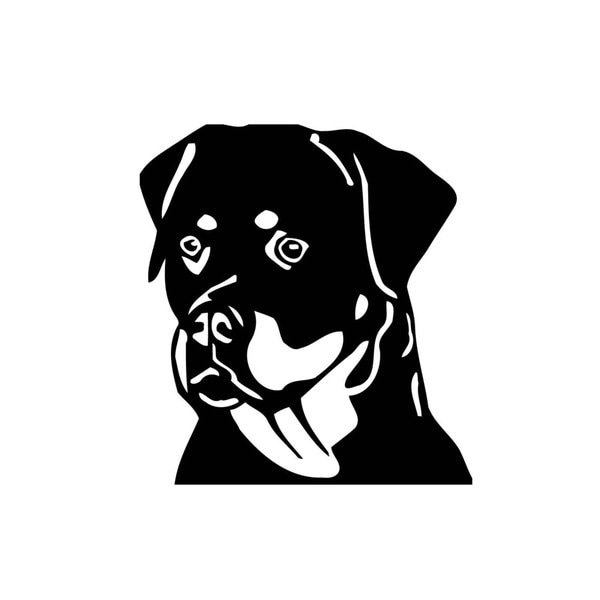 Rottweiler Face Vinyl Wall Art