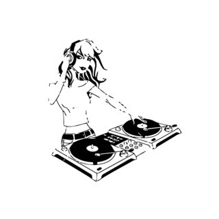 Girl DJ Music Vinyl Wall Art