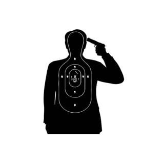 Human Shooting Target Mural Vinyl Wall Art