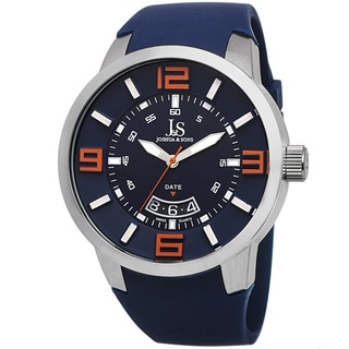 Joshua & Sons Men's Swiss Quartz Date Blue Strap Watch