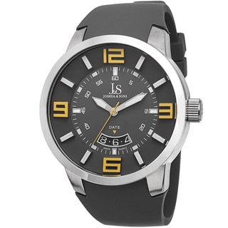 Joshua & Sons Men's Swiss Quartz Date Grey Strap Watch