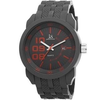 Joshua & Sons Men's Quartz Date Grey Strap Watch