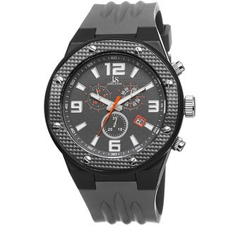 Joshua & Sons Bold Men's Chronograph Date Grey Strap Watch