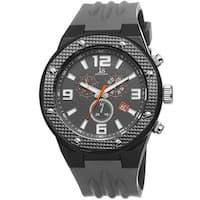 Joshua & Sons Bold Men's Chronograph Date Grey Strap Watch