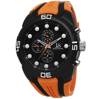 Joshua & Sons Men's Chronograph Sports Orange Strap Watch