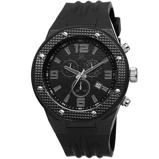Joshua Sons Bold Men S Chronograph Date Black Strap Watch