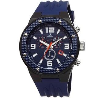 Joshua & Sons Bold Men's Chronograph Date Blue Strap Watch