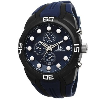 Joshua & Sons Men's Chronograph Sports Blue Strap Watch