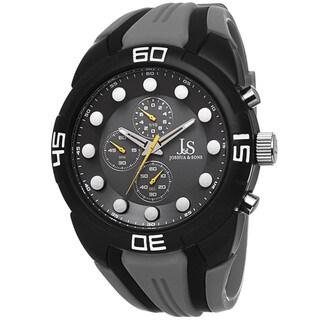 Joshua & Sons Men's Chronograph Sports Grey Strap Watch