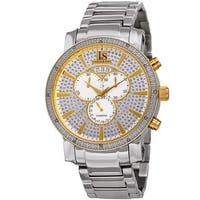 Joshua & Sons Men's Diamond Chronograph Stainless Steel Two-Tone Bracelet Watch