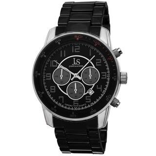 Joshua & Sons Men's Quartz Chronograph Date Silver-Tone Bracelet Watch