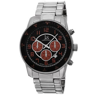 Joshua & Sons Men's Quartz Chronograph Date Orange Bracelet Watch