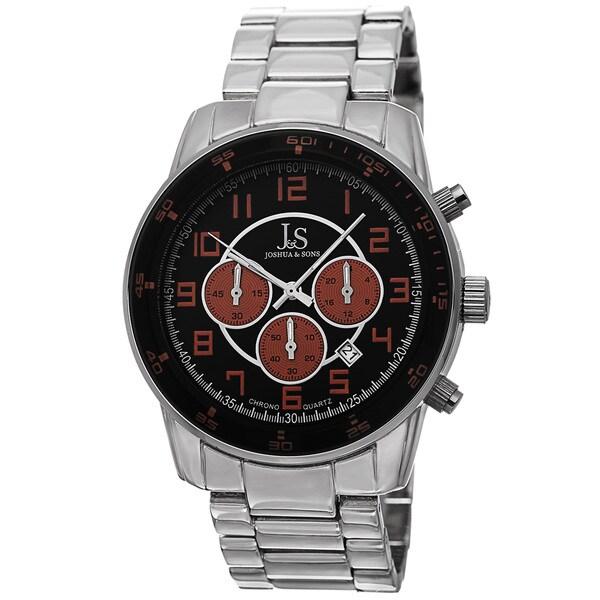 Joshua & Sons Men's Quartz Chronograph Date Orange Bracelet Watch. Opens flyout.