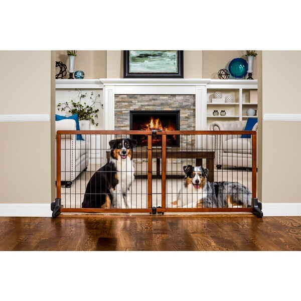 Carlson Pet Extra Tall Wood Free Standing Pet Gate Free