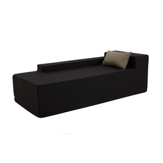 Softblock Black Weather-resistant Outdoor Chaise Lounger