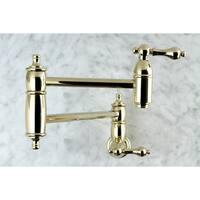 Restoration Polished Brass Pot-filler Kitchen Faucet