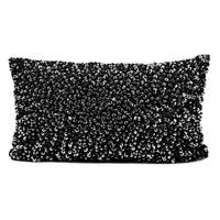 Mina Victory Sequins and Seed Beads Black 12 x 20-inch Throw Pillow by Nourison