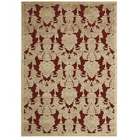 Nourison Graphic Illusions Red Rug - 7'9 x 10'10