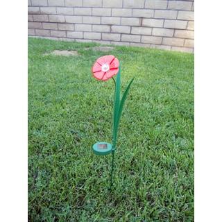 Tricod Ballerina Red Paddle Trumpet Flower Solar Light (Set of 2)