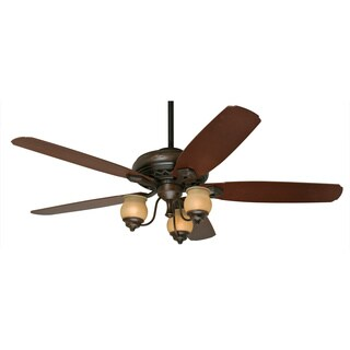 Hunter Prestige Torrence 64-inch Ceiling Fan with Provence Crackle Finish and Five Mahogany/ Dark Walnut Blades