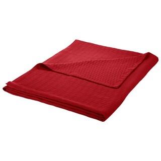 Superior All-season Luxurious Diamond Weave Cotton Blanket