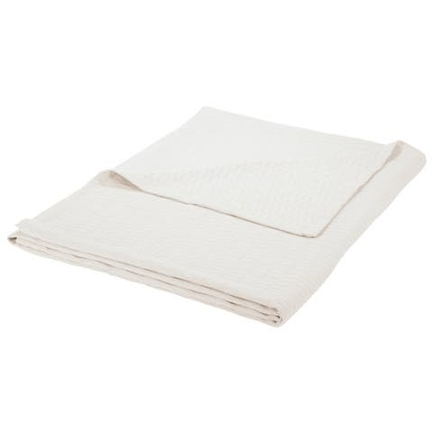 Superior All-season Luxurious Diamond Weave Cotton Blanket